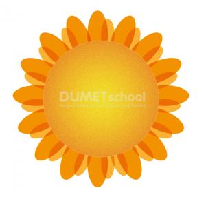 Cara Membuat Bunga Matahari Sederhana-11