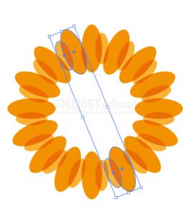 Cara Membuat Bunga Matahari Sederhana-7