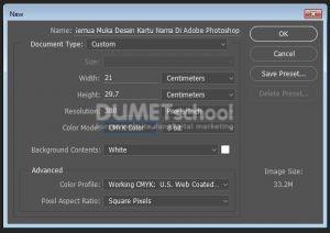 Cara Memprint Semua Muka Desain Kartu Nama Di Adobe Photoshop