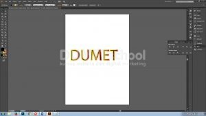 Memberi Stroke Gradient Pada Teks Di Adobe Illustrator