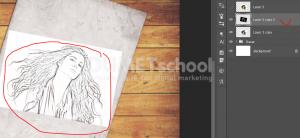 Cara Membuat Efek Gambar Sketsa 3D Di Photoshop-15