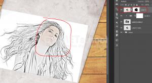 Cara Membuat Efek Gambar Sketsa 3D Di Photoshop-18