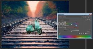 Cara Membuat Efek Desain Vespa Miniatur Dengan Photoshop -10