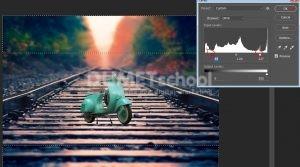 Cara Membuat Efek Desain Vespa Miniatur Dengan Photoshop -11