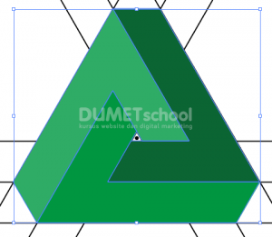 Cara Membuat Logo Triangle Shape-11