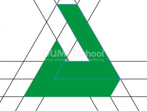 Cara Membuat Logo Triangle Shape-9