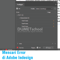Cara Mencari Error di Adobe Indesign