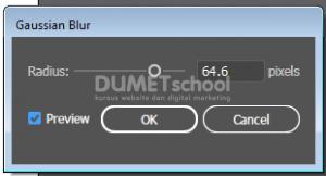 Memberi Efek Gaussian Blur pada Objek di Adobe Illustrator