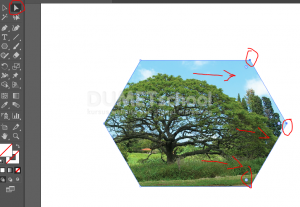 Cara Menambah Area Clipping Mask Di Illustrator - 6