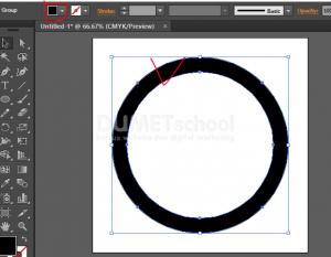 Membuat Huruf M Dari Rectangle Dan Ellipse Tool - 3
