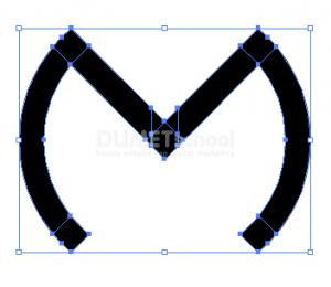 Membuat Huruf M Dari Rectangle Dan Ellipse Tool - 7