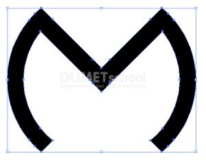 Membuat Huruf M Dari Rectangle Dan Ellipse Tool - 8