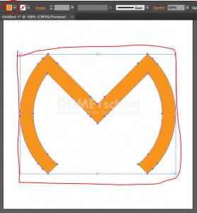 Membuat Huruf M Dari Rectangle Dan Ellipse Tool - 9