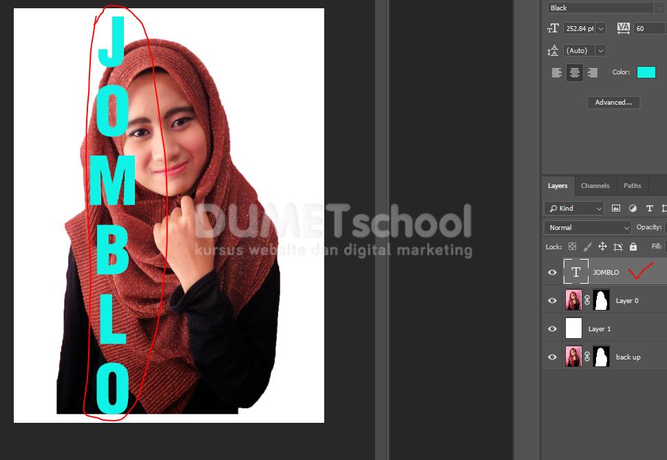 Cara Membuat Efek Teks Masking Di Photoshop - 6 - Kursus ...