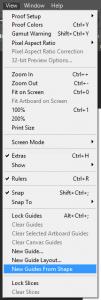 Cara Membuat Guidline Berdasarkan Posisi Objek di Adobe Photoshop