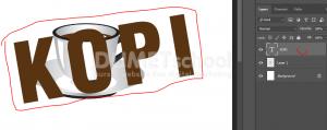 Cara Mengkombinasikan Gambar Dengan Teks Di Photoshop - 4