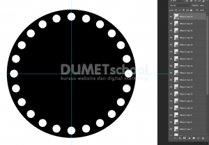 Cara Duplikat Objek Keliling Lingkaran Di Photoshop - 7