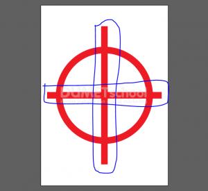 Cara Memotong Lingkaran Menjadi 4 Bagian Sama Rata - 4