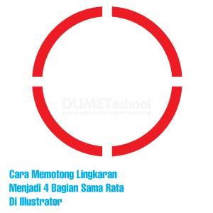 Cara Memotong Lingkaran Menjadi 4 Bagian Sama Rata