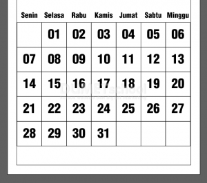 Cara Membuat Template Tanggalan Kalender Di Illustrator Part 2 - 14