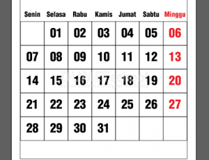 Cara Membuat Template Tanggalan Kalender Di Illustrator Part 2 - 15