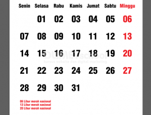 Cara Membuat Template Tanggalan Kalender Di Illustrator Part 2 - 17