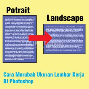 Cara Merubah Ukuran Lembar Kerja Di Photoshop