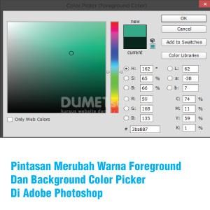 Pintasan Merubah Warna Foreground Dan Background Color Picker