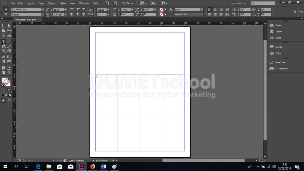 Cara Memasukan Gambar ke Dalam Tabel di Adobe Indesign