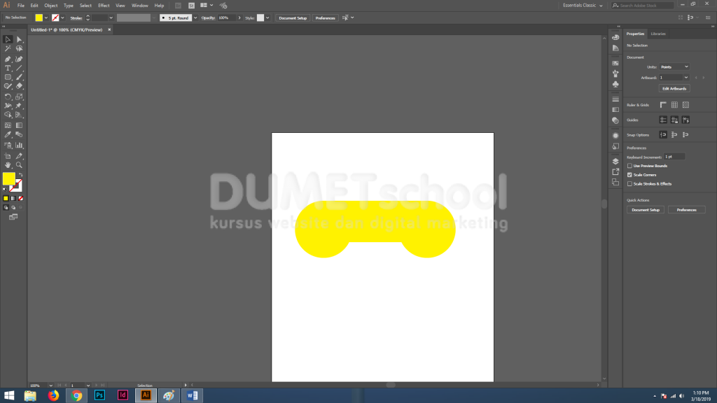 Cara Membuat Flat Icon Stik Game di Adobe Illustrator
