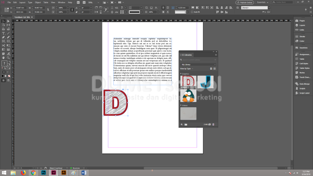 Cara Menggunakan Custom Drop Caps Pada Software Adobe Indesign