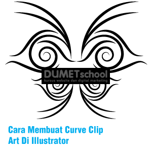 Cara Membuat Curve Clip Art Di Illustrator