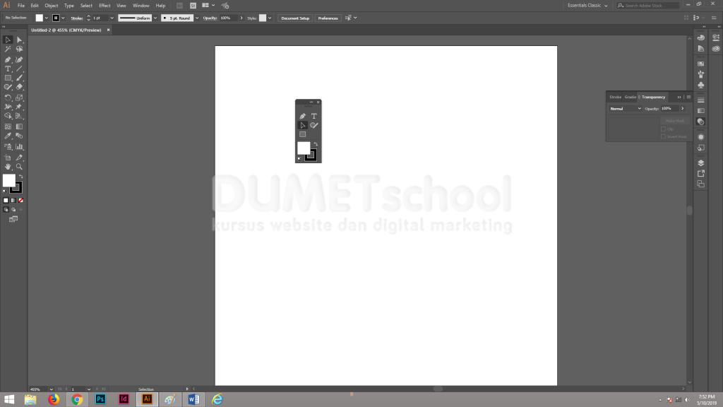 Cara Mengcustom Isi Tools Panel di Adobe Illustrator