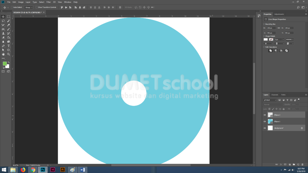 Membuat Desain CD Sederhana dengan Menggunakan Adobe Photoshop