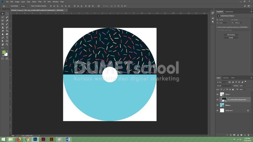 Membuat Desain CD Sederhana dengan Menggunakan Adobe Photoshop Part 2