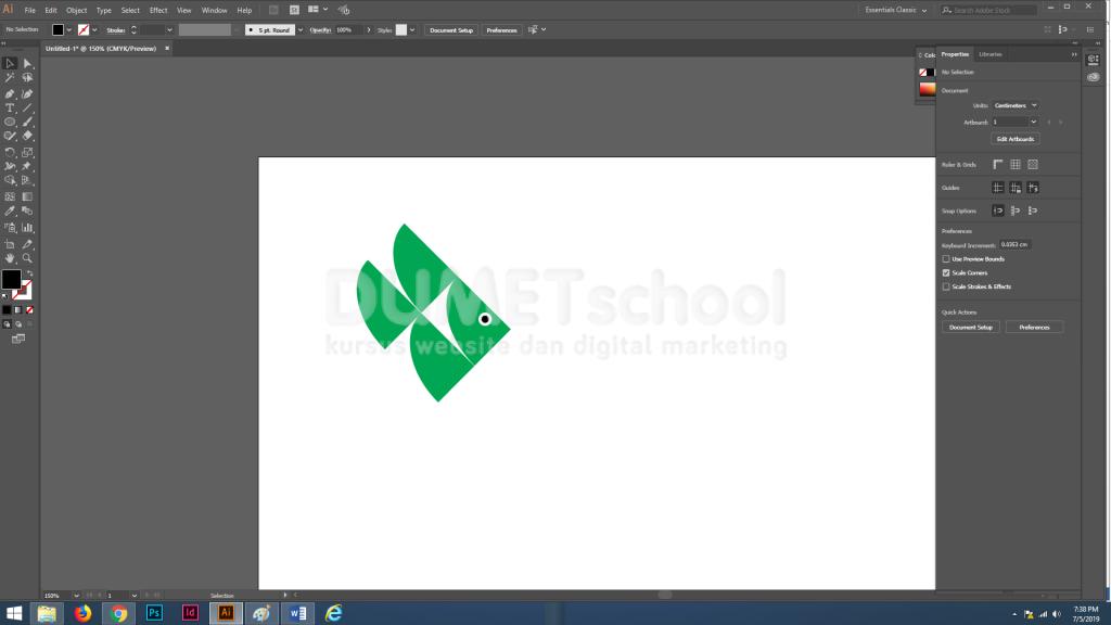 Cara Membuat Logo Sederhana dari Shape di Adobe Illustrator