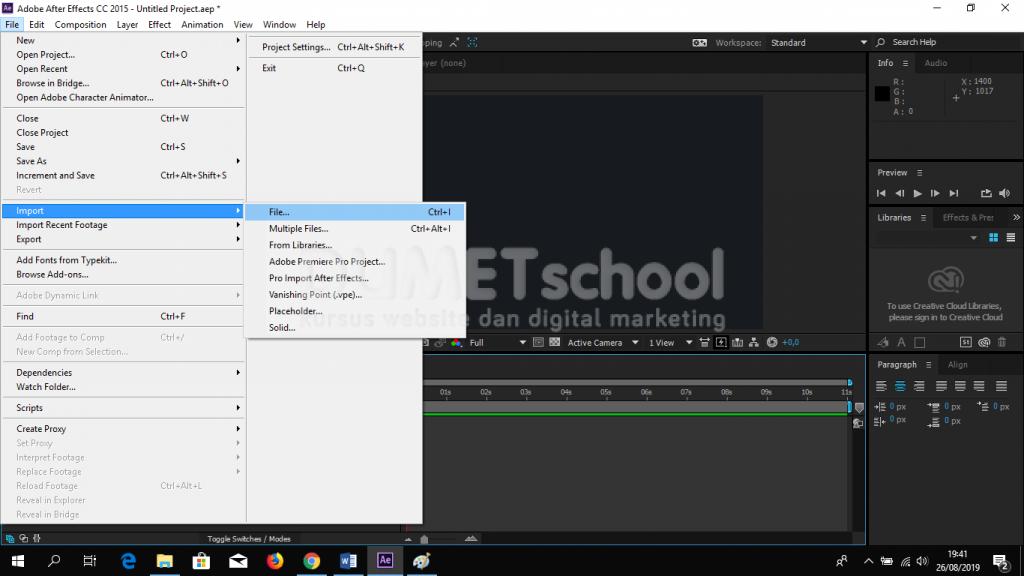 Cara Memberikan Efek Waves Pada Objek di Adobe After Effect
