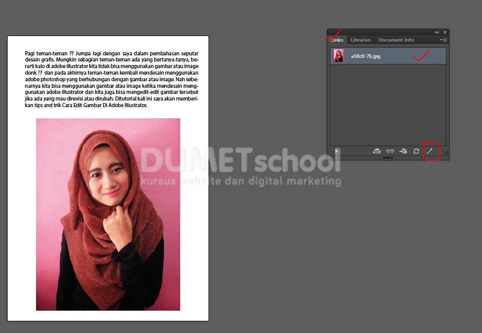 Cara Edit Gambar Di Adobe Illustrator - Kursus Desain Grafis