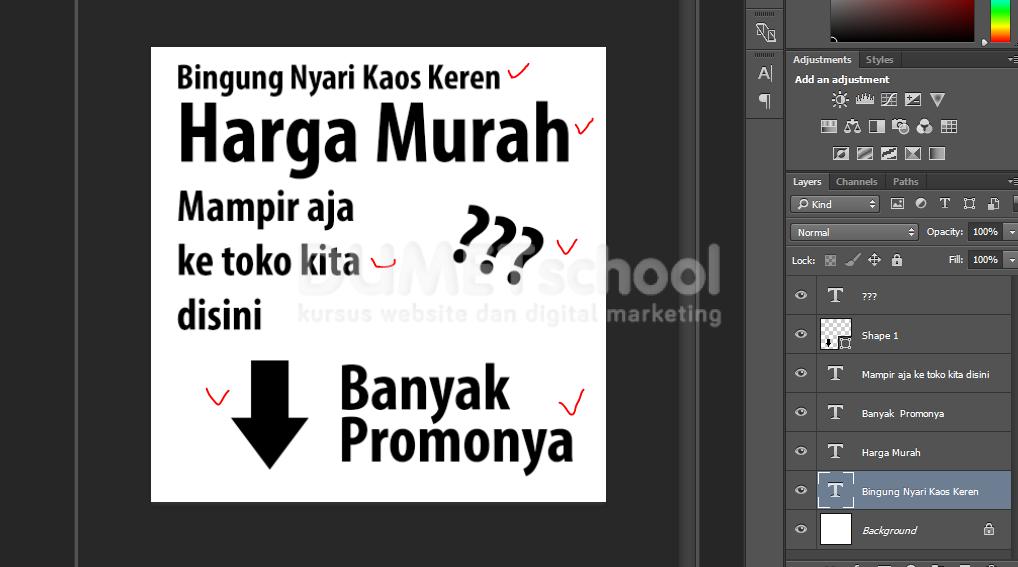 Mudahnya Membuat Media Promosi Instagram Di Photoshop Kursus Desain Grafis