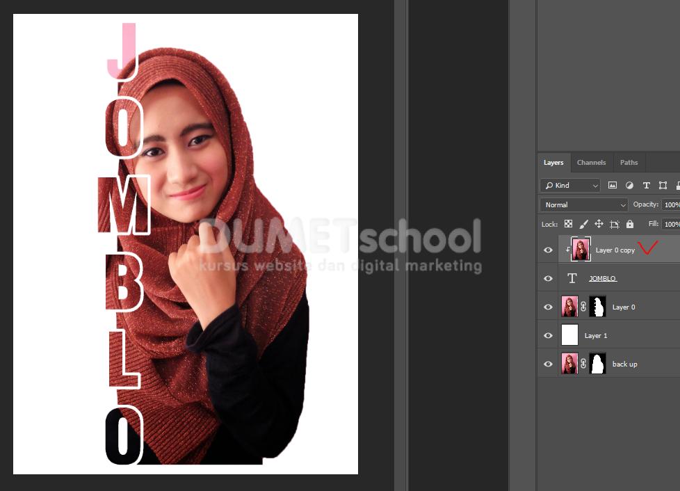 Cara Membuat Efek Teks Masking Di Photoshop - Kursus ...