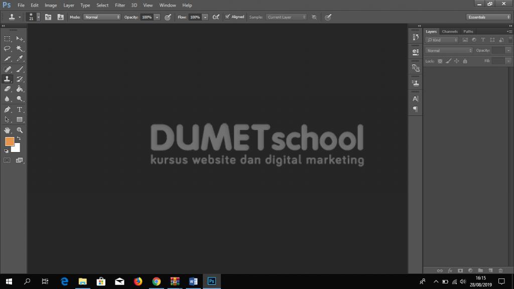 Cara Menyimpan Hasil Clone Stamp Tool di Adobe Photoshop