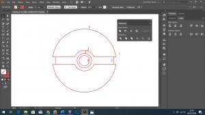 Cara Membuat Bola Pokemon Sederhana dengan Menggunakan Adobe Illustrator Part2