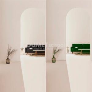 Mengubah Warna Sofa dengan Selective Color