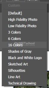 Menggunakan Tracing Preset Pada Gambar