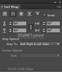 Kursus Desain Grafis Online Menggunakan Text Warp di Adobe Indesign
