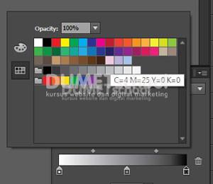 Gradient Color Pallete di Adobe Illustrator