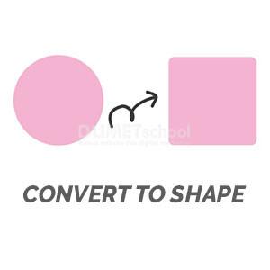 Menggunakan Convert to Shape di Illustrator