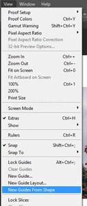 Cara Menggunakan New Guide From Shape di Photoshop