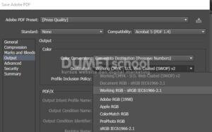Pengaturan File PDF Agar Warna Sesuai Dengan Aslinya