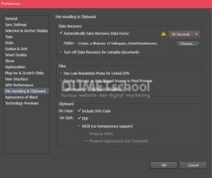 Cara Auto Save di Adobe Illustrator